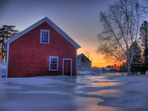sunset snow vermont sundown whitehouse hdr redbarn randolphcenter canong9