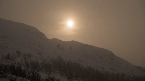 hemsedal ice landscape lowlight nordiclight snow sunset winter buskerud norway