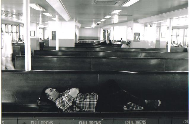 new york ferry sleeping