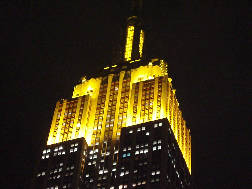 Picture Of Empire State Building Lit Yellow Due To The Sim