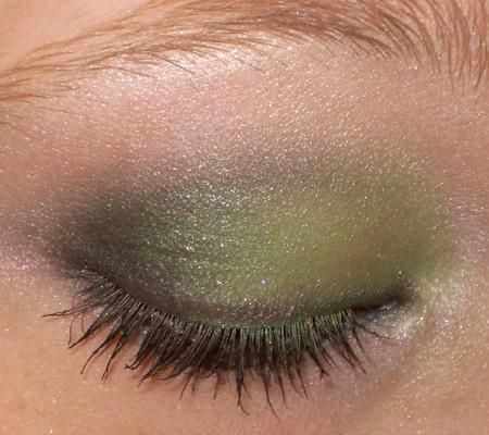Close up of smokey green...