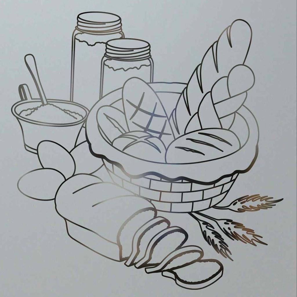 Pantry Doors Glass Bread Basket Design, Solid Etched Frost… | Flickr