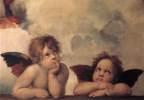 RAFFAELLO Sanzio The Sistine Madonna (detail) 1513-14   by carulmare