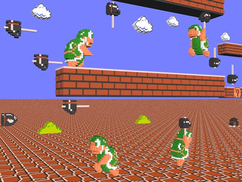3 D Super Mario Bros Hammer Bros A 3 D Modeled Picture