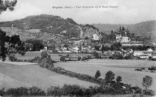 Orgelet, vue générale depuis le Mont
