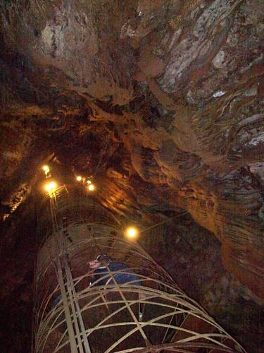 california cave cavern spiralstaircase flowstone calaverascounty moaningcavern speleothems mlhradio