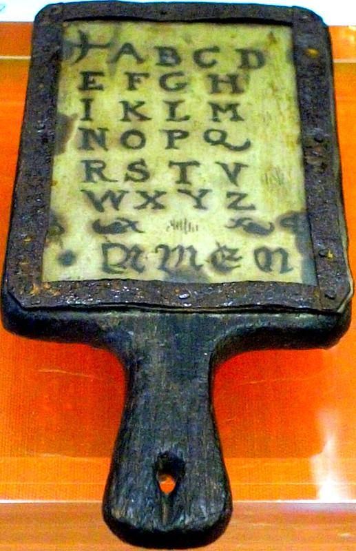 Tudor alphabet tablet