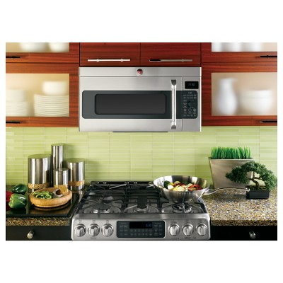 GE CVM1790SSSS Cafe 1.7 Cu. Ft. Stainless Steel Over-the-Range Microwave - Convection | by Goedeker's