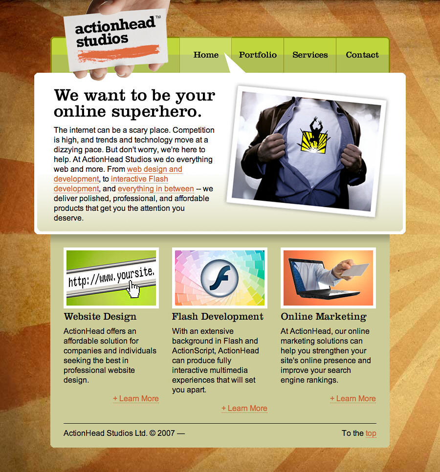 ActionHead Studios Ltd. - Website Design, SEO, Flash Development