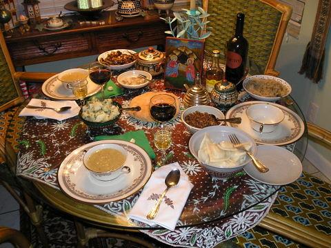 Ukrainian Christmas Eve dinner, south Florida style