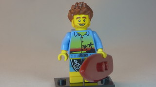 Smiling Surfer Brick Yourself Custom Lego Figure | by BrickManDan