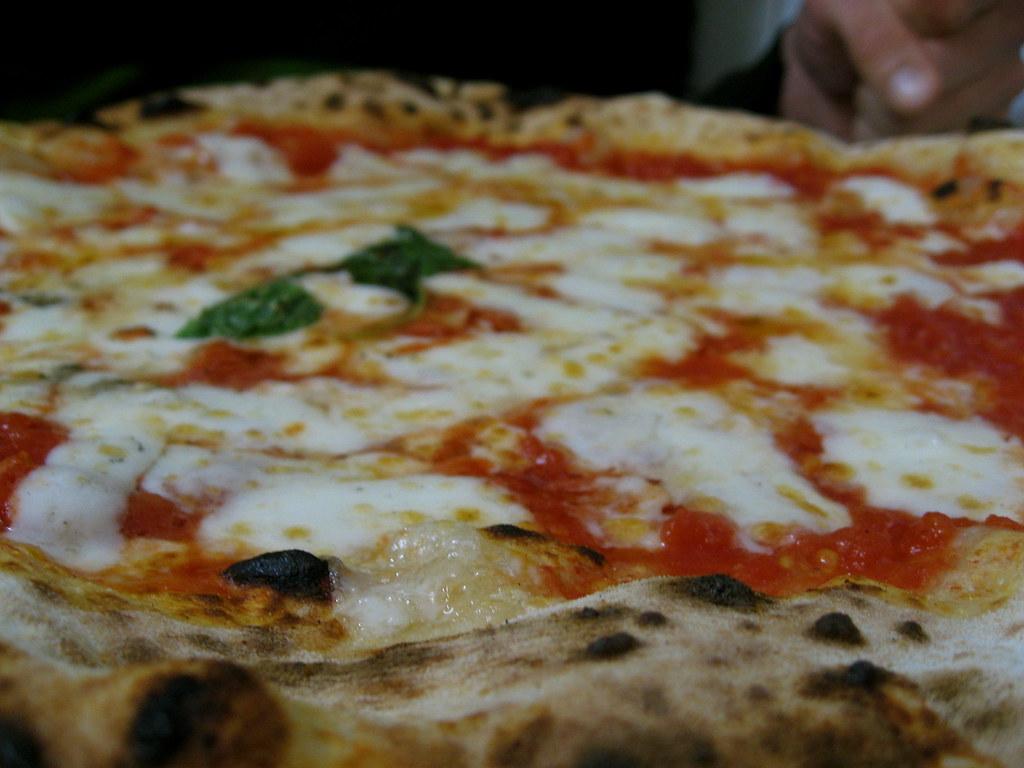 pizza margherita at pizzeria la michele, naples
