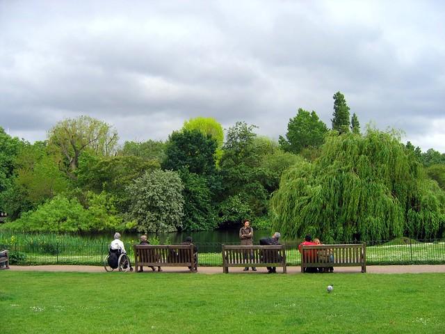 London Scenes, St. James Park, Trafalgar, Westminster
