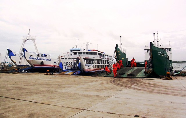 Super Shuttle Ferry 26, Super Shuttle Ferry 3 and LCT Island II