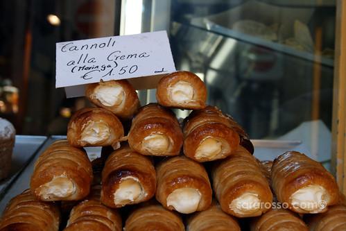 Cannoli alla Crema (Meringue) in Bergamo Alta, Italy   by MsAdventuresinItaly