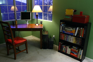 Office Desk and Bookshelf | by tomas carrillo