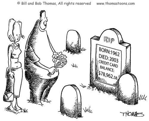 Credit Card Tombstone | by thomastoons