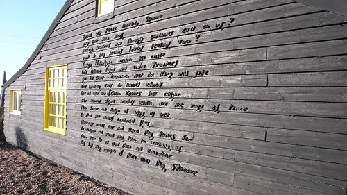 """Prospect Cottage poem wall: """"The Sunne Rising"""" by John Donne   by dumbledad"""