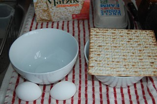 the necessary ingredients for matzah brie | by abmatic