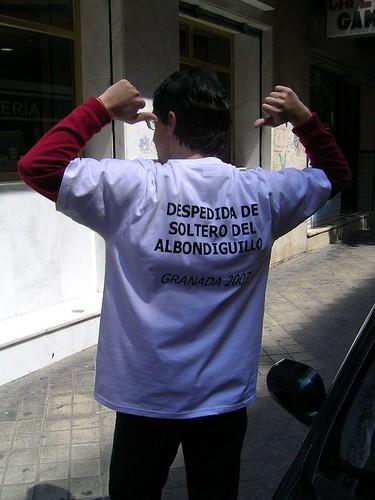 Ejemplo de camiseta para despedida de soltero