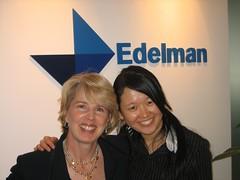 Debbie Weil and Sabrina Dorr at Edelman's Beijing office   by wordbiz