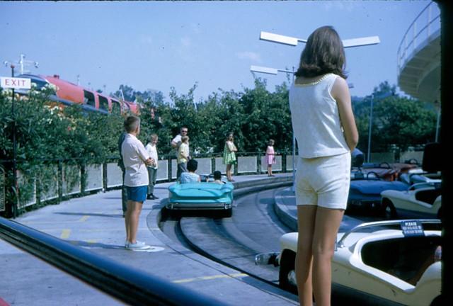Robert and Tina on Autopia. (08/1968)