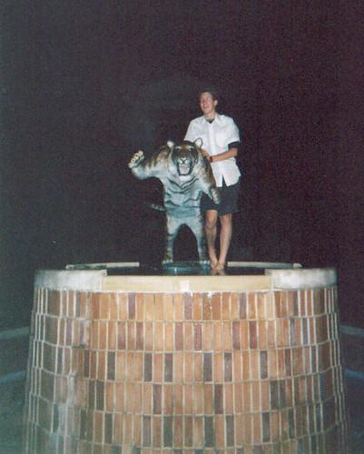 jeremiah ec atop fountain