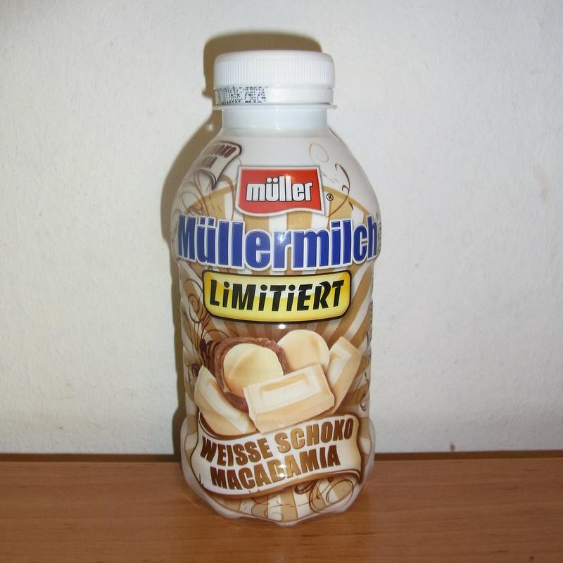 Müller Müllermilch Limitiert Weiße Schoko Macadamia