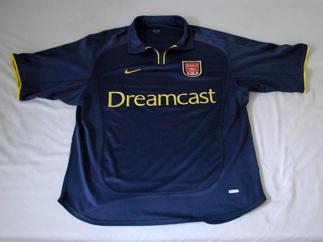quality design f73cf baab3 Arsenal FC 00/02 CL Away Jersey | Arsenal FC 00/02 CL Away J ...