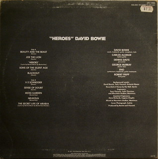David Bowie - Heroes - back | by Insta: @ablekay47