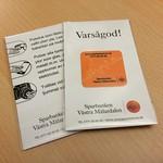 Små praktiska putsdukar till Sparbanken Västra Mälardalen.