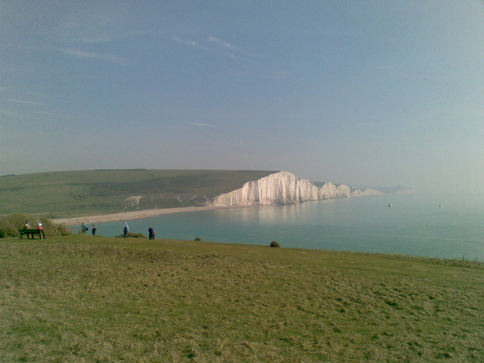 The Seven Sisters, South Downs Between Eastbourne and Seaford on the South Coast, the Seven Sisters are even more dramatic than the White Cliffs of Dover.