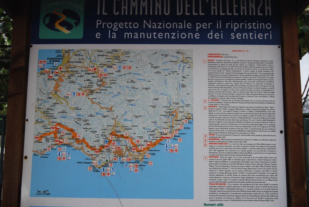 Tour Costiera Amalfitana Cartina.Costiera Amalfitana Mappa Sentieri Annamicale Flickr
