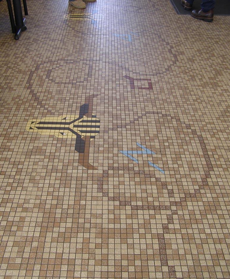 Arby's tile floor