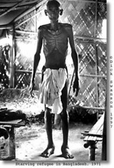 A starving Bangladeshi refugee in 1971   by Bangali871