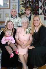 Of the kids, Lynn was the only blonde, and it's carried down through her kids.  Four generations here.