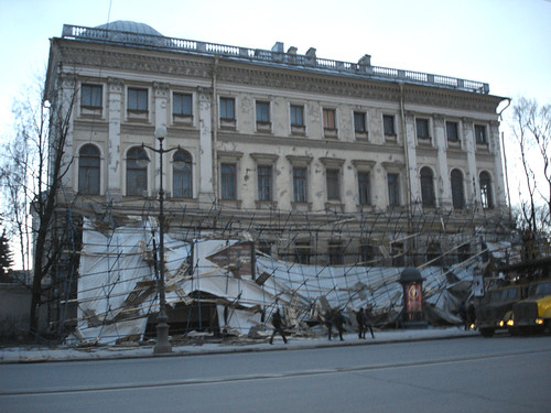 SPb, Nevsky Prospekt -- Broken scaffold | by a.kost