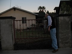 James Ellroy visits a grumpy dog near his childhood home in El Monte | by richardschave