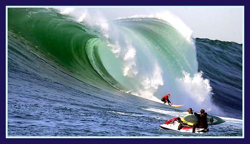 Giant waves at Half Moon Bay in Calif.