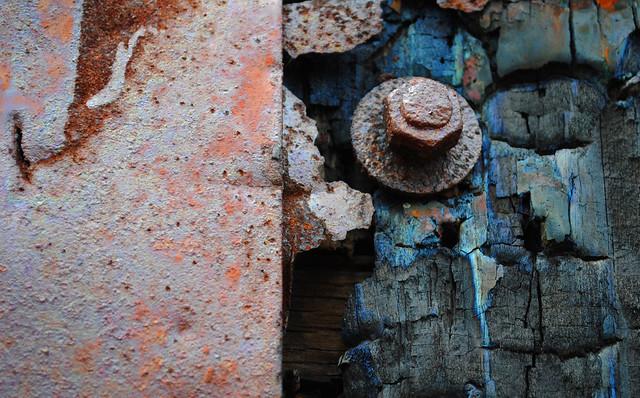 Factory door detail, West Quincy, MA