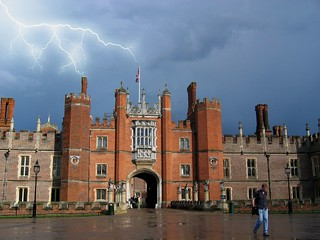 Hampton Court Palace with lightning | by -TheDebster-