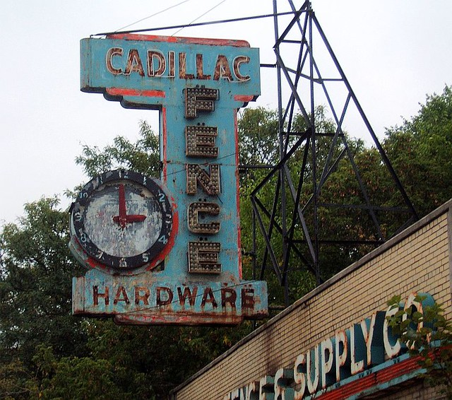 Cadillac Fence Co Sign On Plymouth Rd In Downtown Detroit