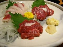 Basashi (horse meat sashimi) @ Hanba (Ginza) | by jetalone