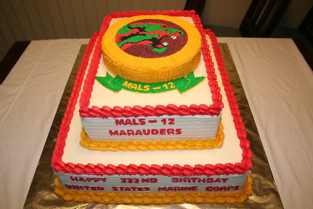Phenomenal Mals 12 Marauders Marine Corps Birthday Cake Please Let Me Flickr Birthday Cards Printable Trancafe Filternl