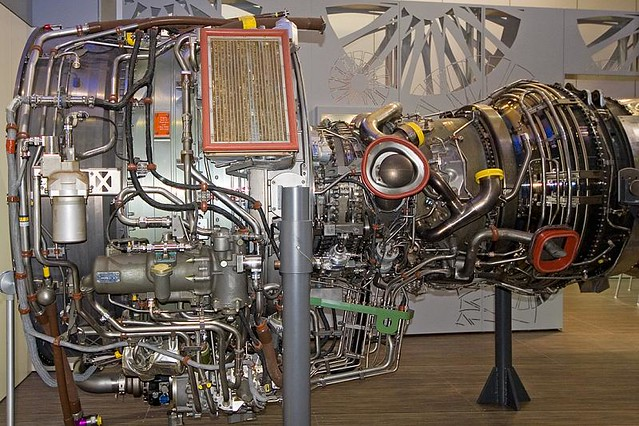 Aircraft jet engine   Aircraft jet engine at the Paris Air S ... on