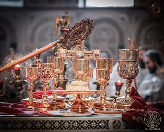 Литургия в Софийском соборе 610