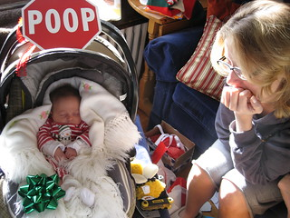 Sophie, Sarah and the Stop Poop Sign!
