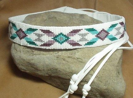02c54a8a153 ... Western Rodeo Style Loom Beaded Hat Band