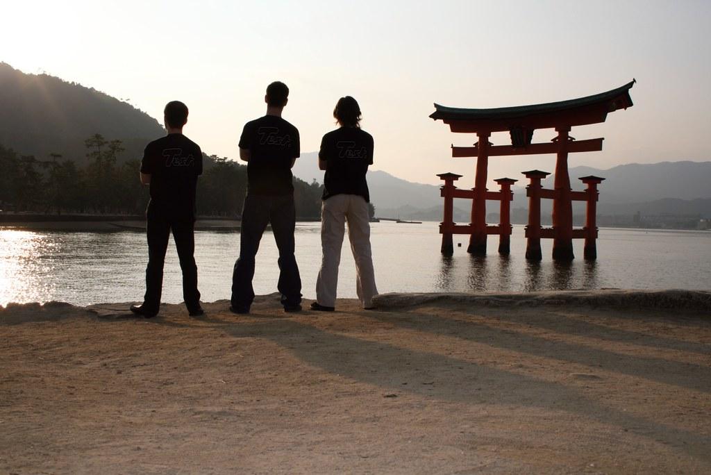 Testing the Itsukushima shrine