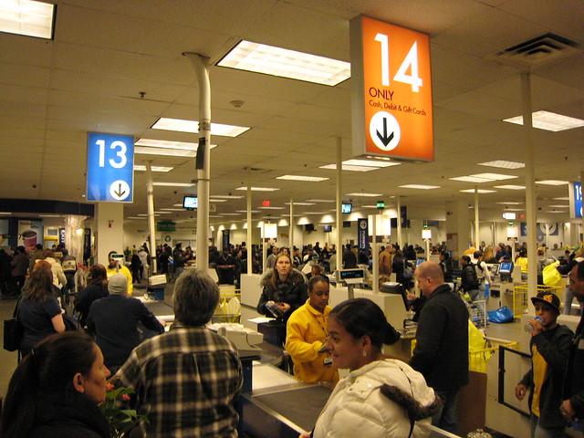 crowded Ikea